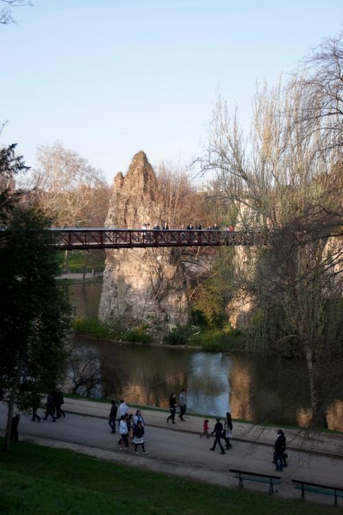 in Parc des Buttes chaumont in paris